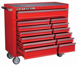 """US General 44"""" 13-Drawer Roller Cabinet for $340"""