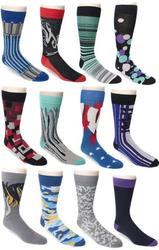 12 Pairs of Erni Vales Men's Dress Socks for $15