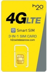 H2O Wireless 4G LTE 3-in-1 SIM Card Kit for $10
