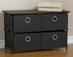BrylaneHome 4-Drawer Storage Wardrobe for $37
