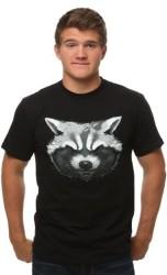 Men's GOTG Rocket Raccoon T-Shirt for $3