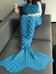 Crocheted Mermaid Blanket for $10 + free shipping