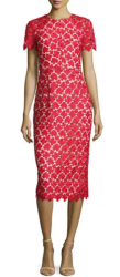 Shoshanna Women's Leaf Lace Cocktail Dress $237