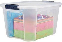 Staples 40-Quart Plastic Container for $5