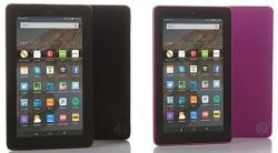"2 Fire 7"" Tablets, Cases, Subscriptions for $80"