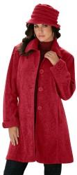 Roaman's Women's Big Button Fleece Jacket