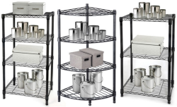 Chrome Steel-Wire Tiered Shelving Units from $25