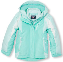 The Children's Place Girls' Colorblock Jacket $17