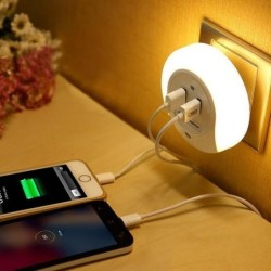 LED Night Light / Dual USB Charger 2-Pack for $15 + free shipping