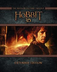 The Hobbit Trilogy Extended Ed. on 3D Blu-ray $29
