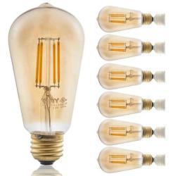 Vintage LED Light Bulbs 6-Packs for $12 + free shipping
