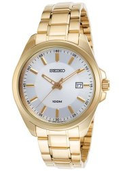 Seiko Men's 42mm Gold-Tone Watch for $34 + free shipping