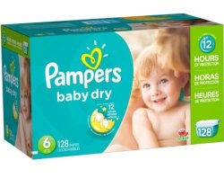 Pampers Baby Dry Diaper 128-Pack for $14