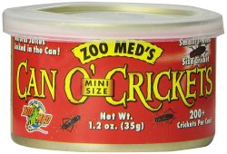 Zoo Med Can O' Crickets 1.2-oz. Can for $4