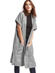 Gap Women's Fleece Open-Front Duster Cardigan