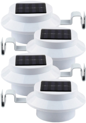 Solar Powered 4-LED Lights w/ Brackets 4-Pack $13