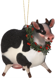 Lenox Barnyard Wreath Glass Ornaments for $11