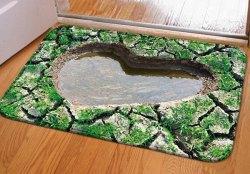 3D Heart Pool Doormat for $5