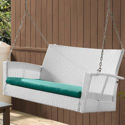Coral Coast Soho Wicker Porch Swing for $123