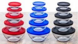 10-Piece Glass Bowl Set for $12