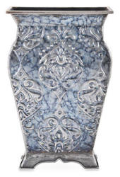 "Elements 14"" Tapestry Embossed Metal Vase for $14"