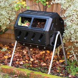 Forest City Dual-Chamber Compost Tumbler for $65