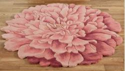"""Deena Blooms 36"""" Flower-Shaped Round Rug for $159"""