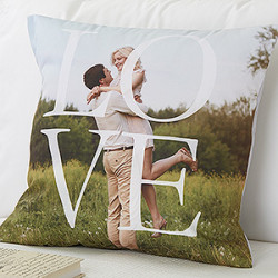 "Love Personalized 18"" Throw Pillow for $27"