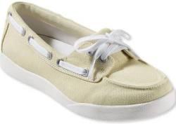 L.L.Bean Women's Canvas Deck Shoes for $40