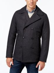 Michael Kors Men's Wool Blend Peacoat for $52