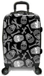 """Traveler's Choice Skulls 22"""" Spinner Suitcase $100"""