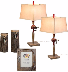 Bass Pro Shops Fishing Lamps and Decor Set for $70