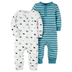 Carter's Baby Boys' Coveralls 2-Pack for $14