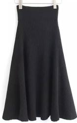 SheIn Women's Ribbed Sweater Skirt