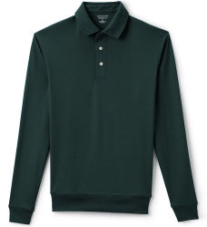 Lands' End Men's Supima Banded Bottom Polo for $25