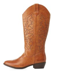Qupid Women's Cowboy Boots for $25