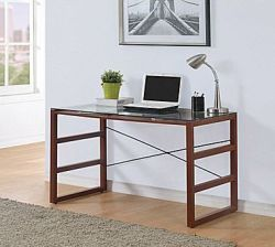 Burton Desk with Glass Top for $70