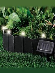 Solar LED Lawn Edging 36-Pack for $20