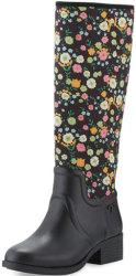 Tory Burch Women's April Floral Rain Boots $141