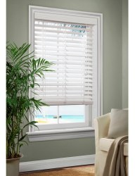 "Allen + Roth 2.5"" Faux Wood Horizontal Blinds $14"