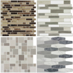 Peel-and-Stick Mosaic Wall Tiles from $1