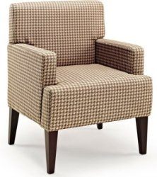 Parlour Scotty Houndstooth Accent Chair