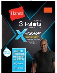 Hanes Men's X-Temp Active T-Shirt 3-Pack for $12