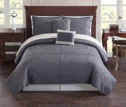 Baroque Tile Reversible King Quilt Set for $70