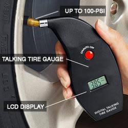 Digital Talking Tire Gauge for $10