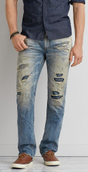 American Eagle Men's Slim Straight Jeans for $15