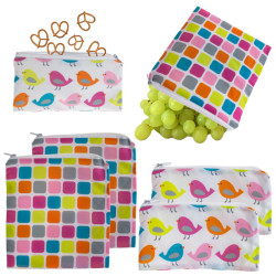 6 Reusable Kids' Snack Bags for $9