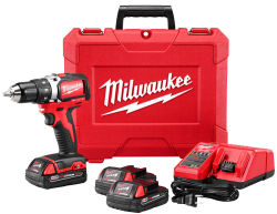 Milwaukee M18 18V Drill/Driver w/ 2 Batteries $159