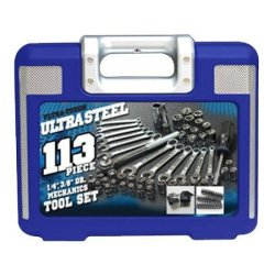 Ultra Steel 113-Piece Mechanics Tool Set for $15