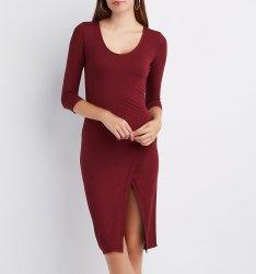 Charlotte Russe Women's Ribbed Envelope Dress $15